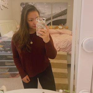 🦋 H&M Burgundy Sweater